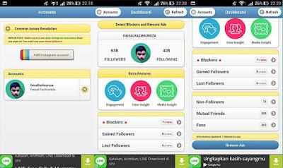 tampilan aplikasi instafollow for instagram