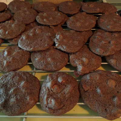 Chocolate Chocolate Chip Cookies:  No, this is not a typo. These are chocolate chip cookies with cocoa powder added making Chocolate, Chocolate Chip Cookies.