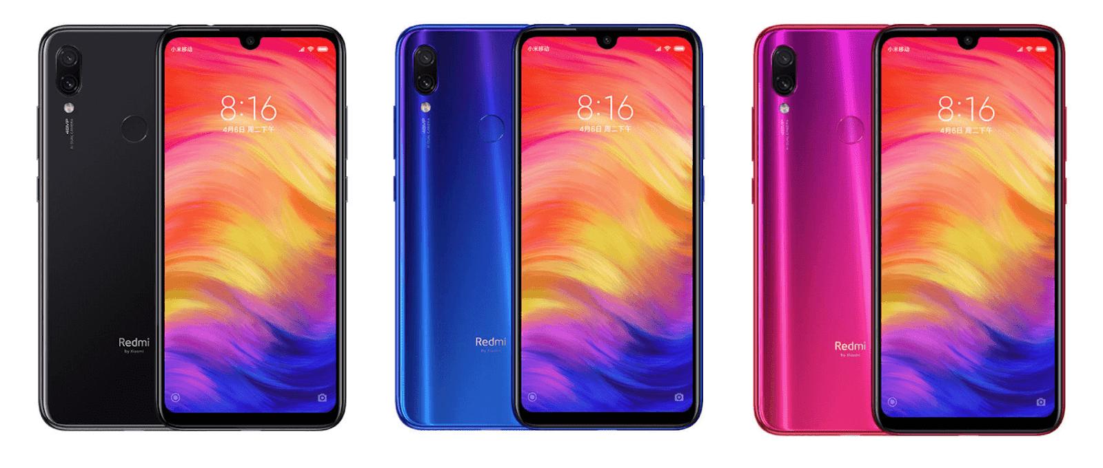 Xiaomi Redmi Note 7  Culori