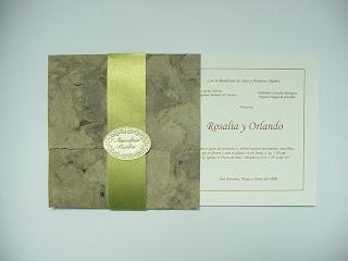 Invitación para boda verde