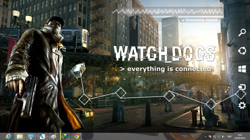 Watch Dogs Theme For Windows 7 And 8 8.1