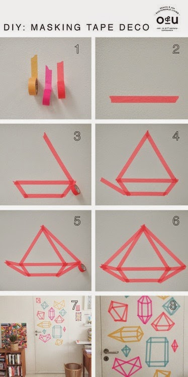 masking tape 6 id es simplissimes initiales gg. Black Bedroom Furniture Sets. Home Design Ideas
