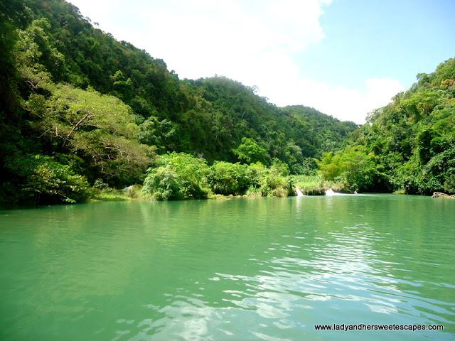small falls at Loboc River Bohol