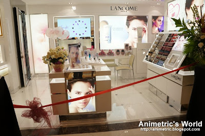 Lancome counter in Rustan&#39;s at Shangri-la Plaza Mall