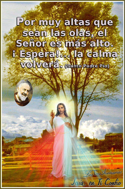 padre pio con jesus