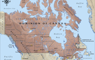 Map of Canada in 1914 (Ministry for Culture and Heritage)