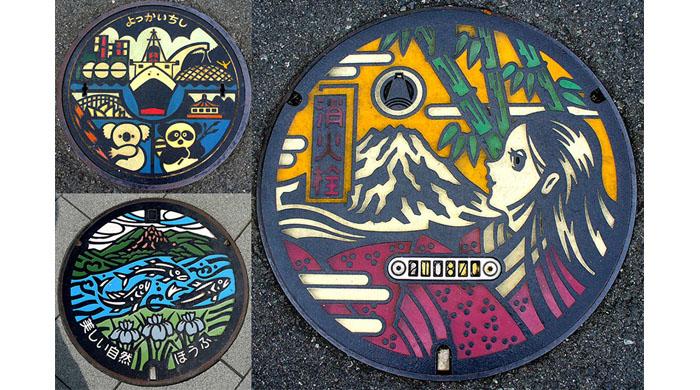 El hermoso arte de las tapas de alcantarilla de Japón