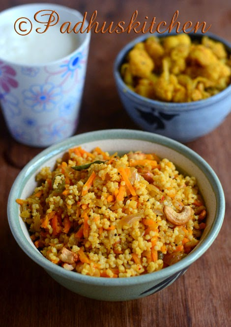 Millet carrot rice-varagu carrot rice