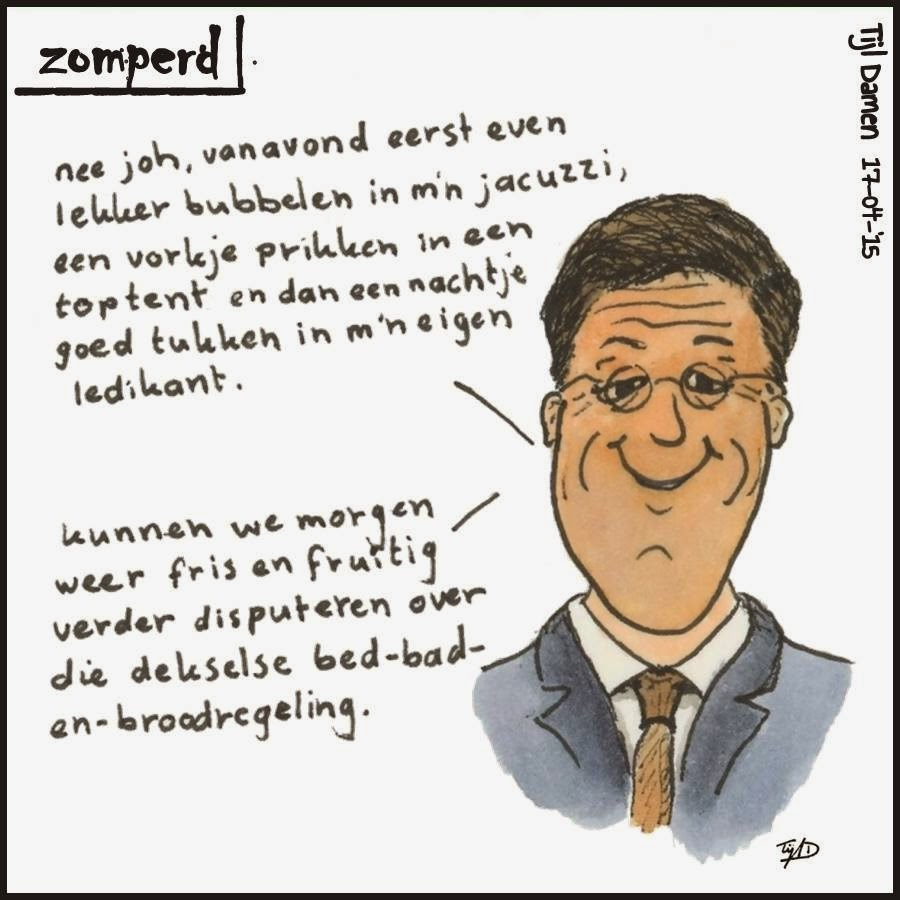 Zomperd: Bed, bad en brood voor mark rutte