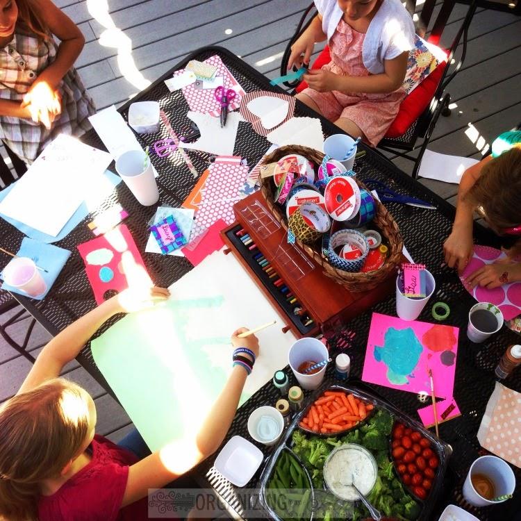 Teaching Kids to be Hospitable : A Girls Craft Party :: OrganizingMadeFun.com