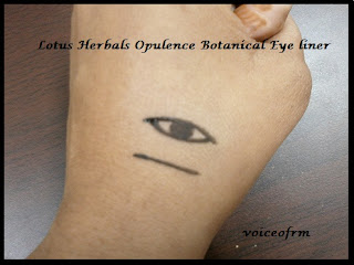 Lotus Herbals Opulence Botanical Eye Liner  Swatch
