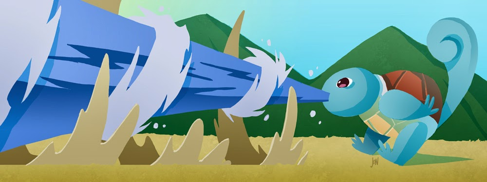 jonathan jon lankry 2D artist animation comic book animated squirtle water gun pokemon pokedex kanto fanart