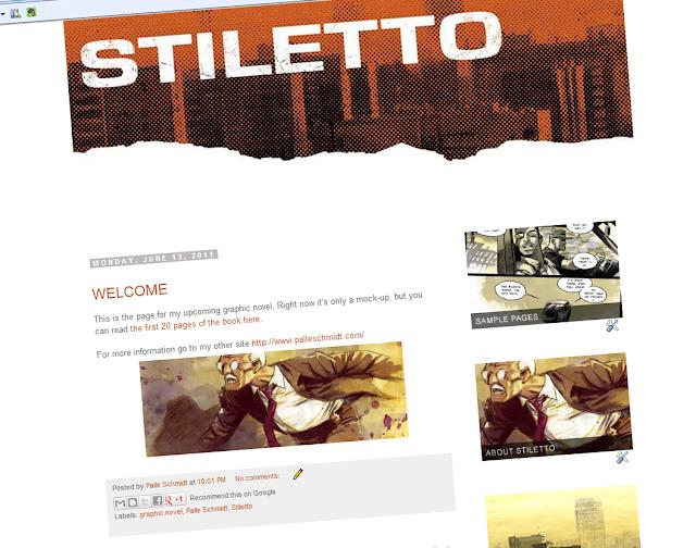 Stiletto: NEW GRAPHIC NOVEL GET'S OWN WEBSITE