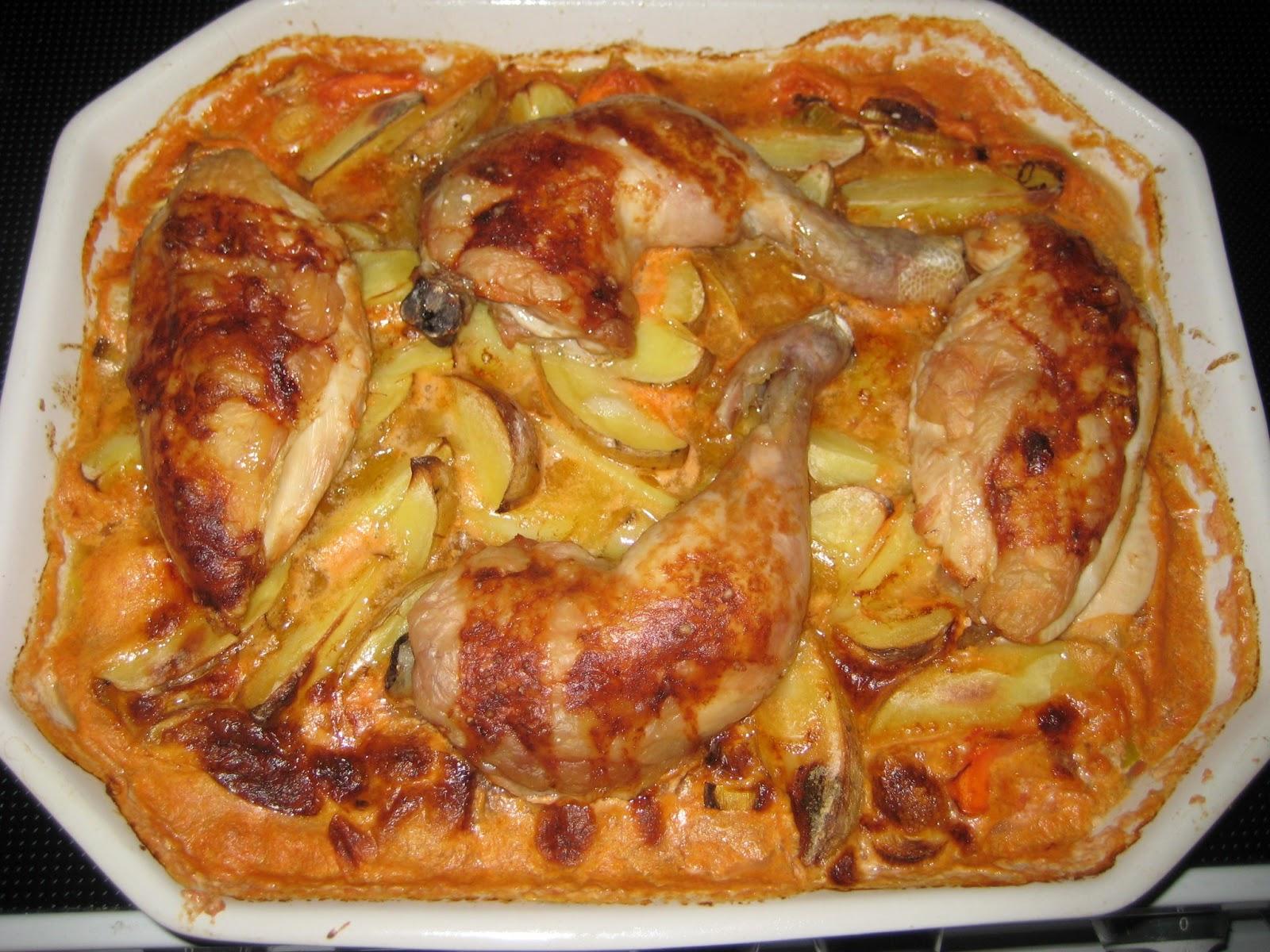 karry kylling i ovn