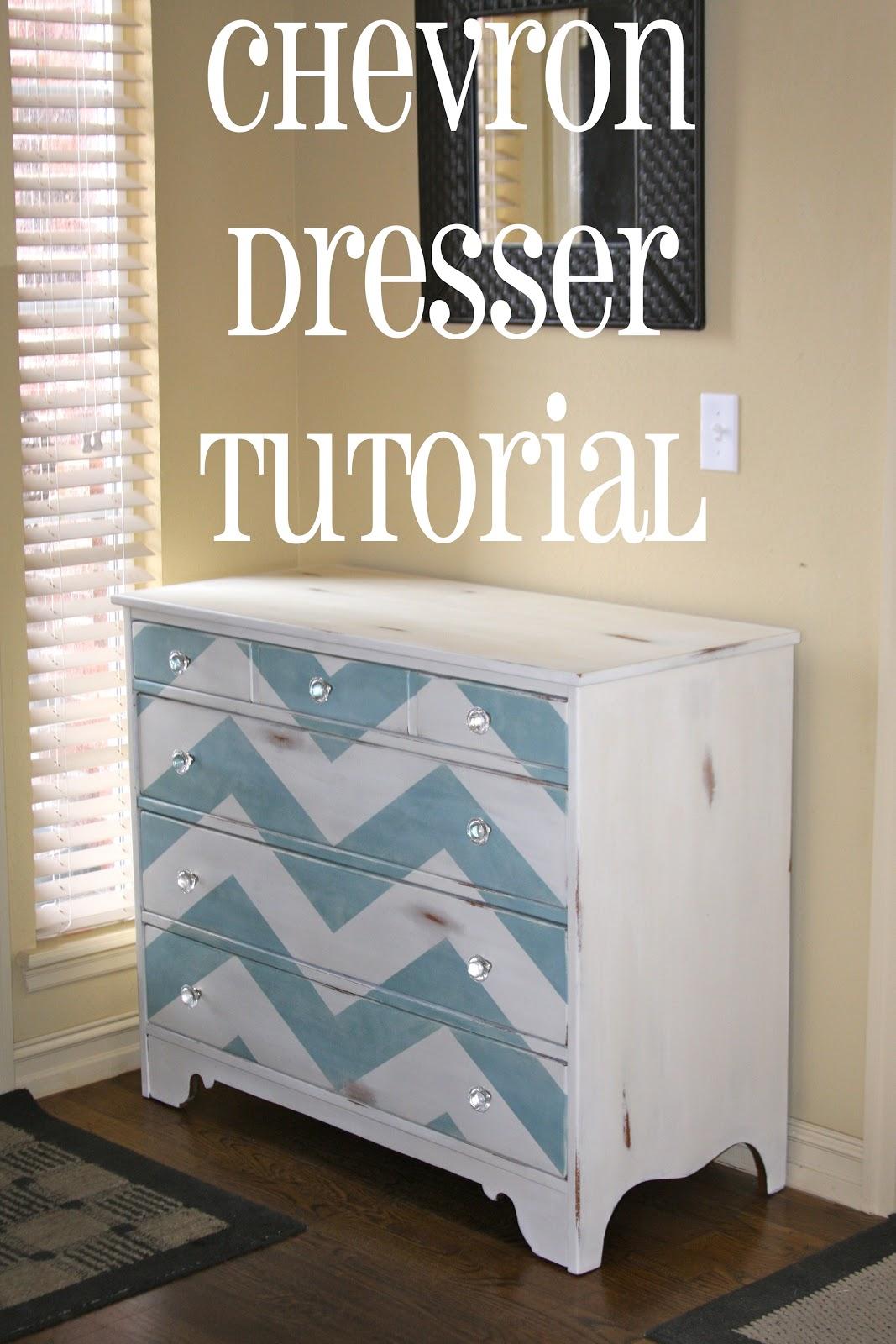 painted chevron dresser tutorial chevron painted furniture