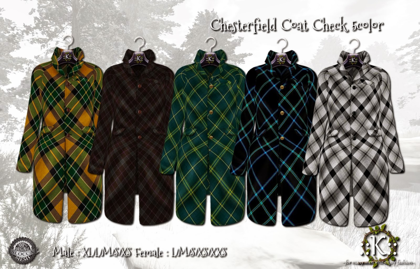 K Chesterfield Check 5color