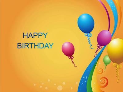 Globos colores Happy Birthday