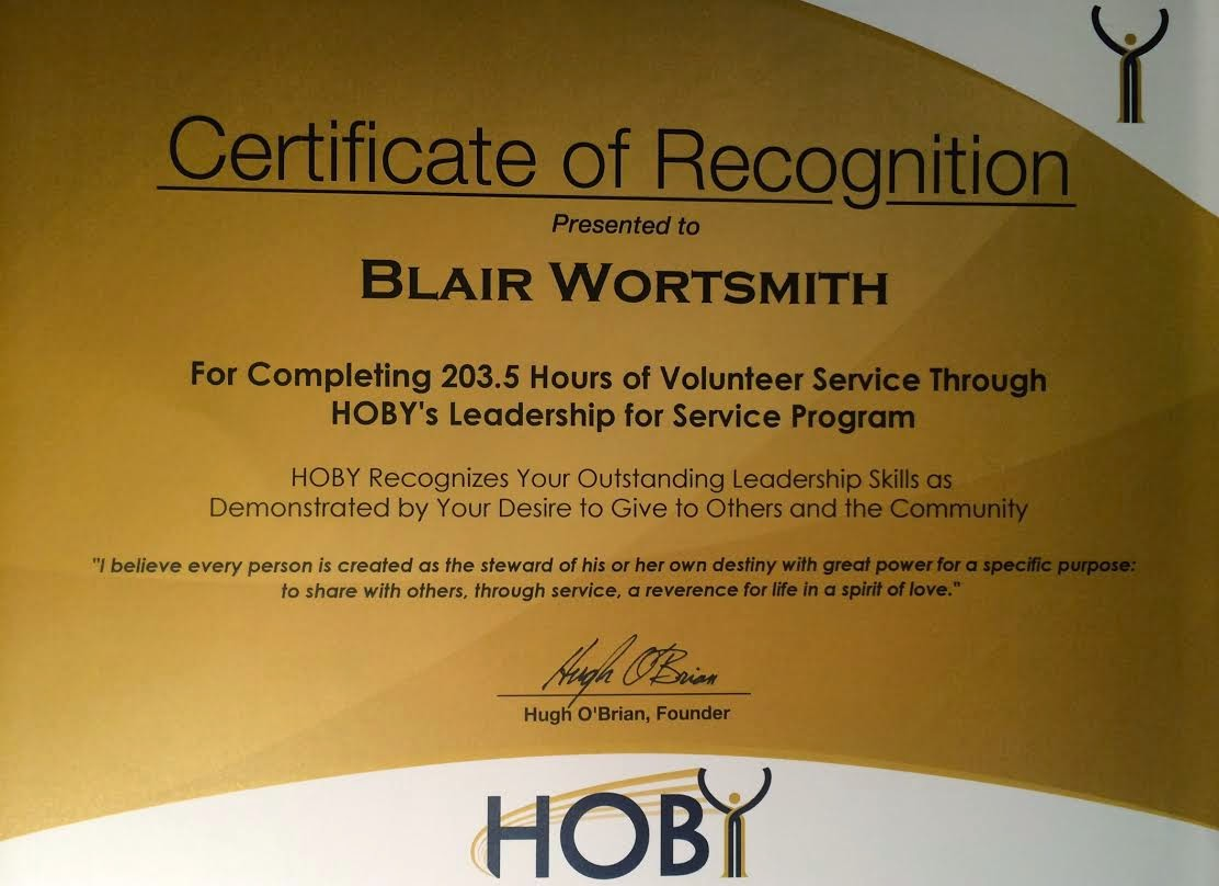 Hoby volunteer awards the international pageants yelopaper Choice Image
