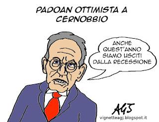 Padona, Cernobbio, recessione, satira, vignetta