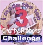 I made top 3 @ Crafty Ribbons 13th June