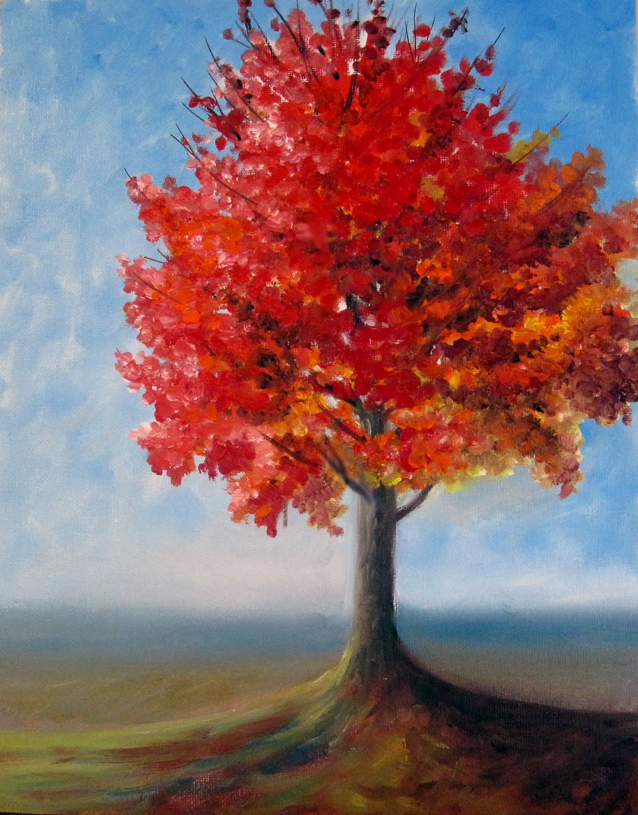 paintings of trees in autumn - photo #1