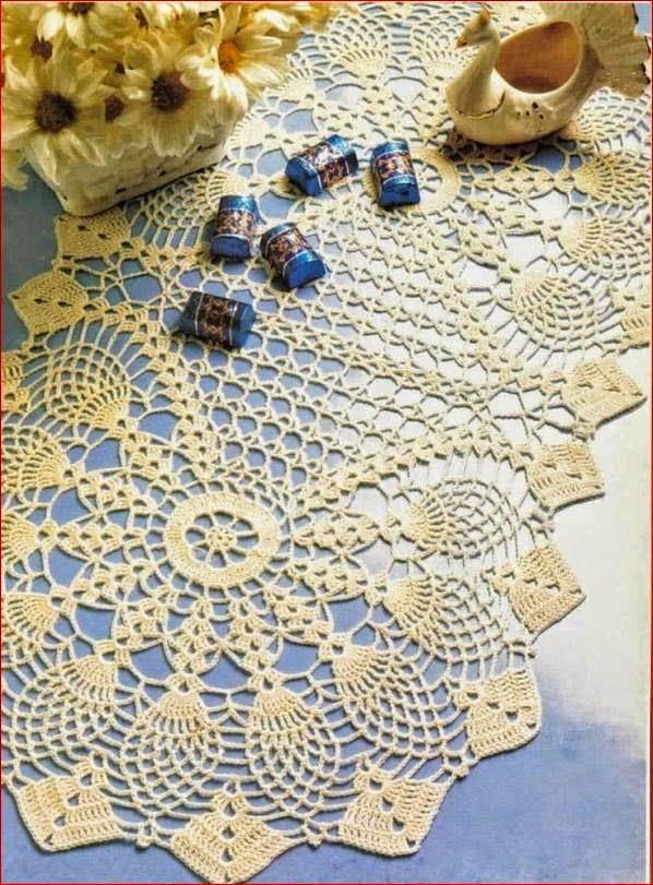 hermoso centro de mesa al crochet crochet y dos agujas