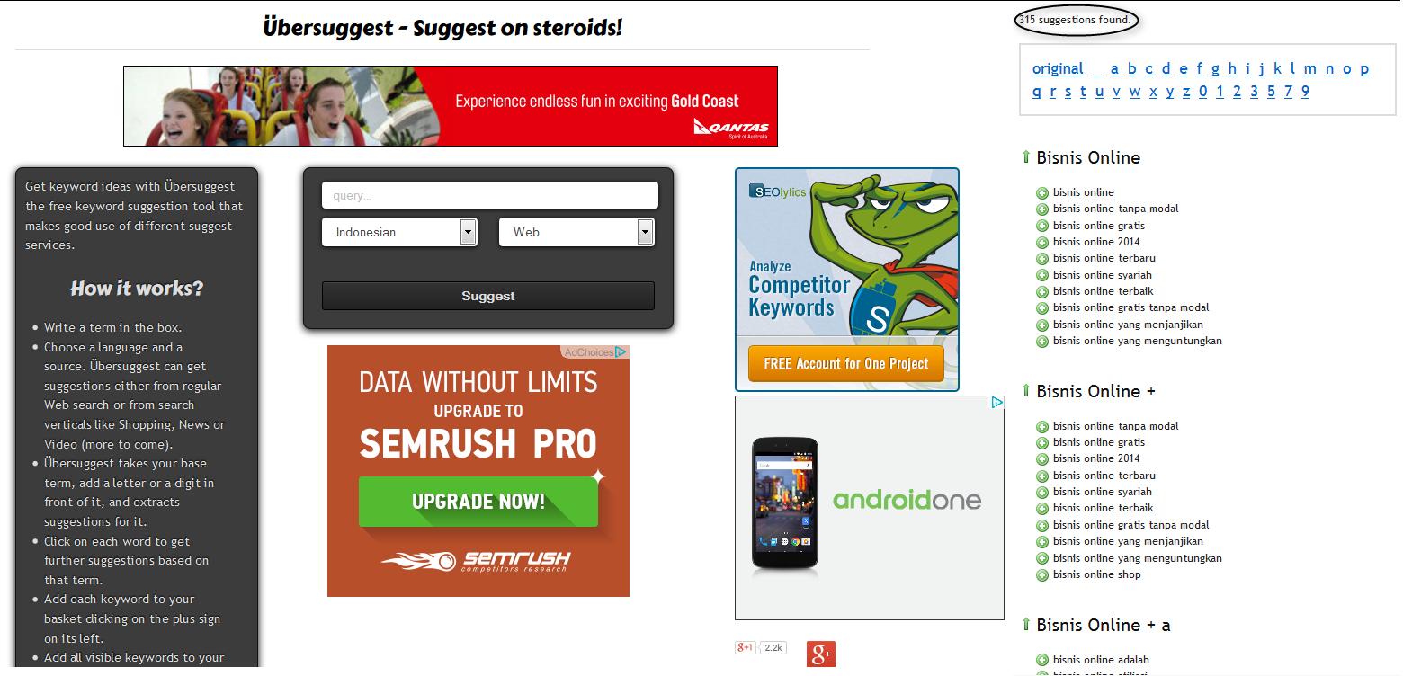 Cara Meriset Keyword Untuk Adsense Tanpa Software