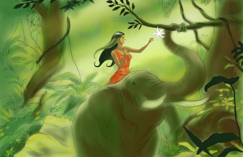 Bianca wong animation beauty and the elephant digital Digital art painting software