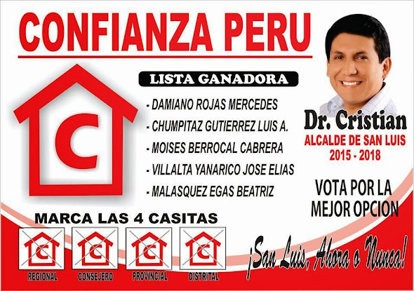 DR. CRISTIAN, ALCALDE DE SAN LUIS 2015 - 2018