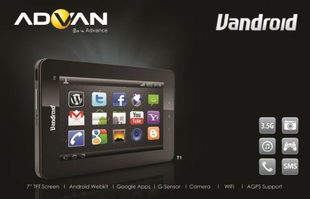 Advan Vandroid T1C Tablet Advance Harga dan spesifikasi 2012