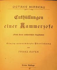 """Première traduction allemande du """"Journal d'une femme de chambre"""", Grimm, Budapest, 1901"""