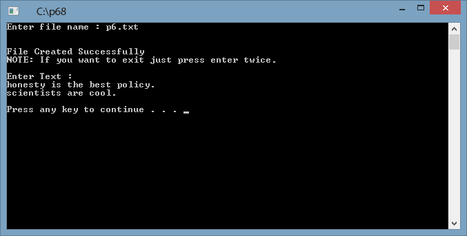 Read write a file in c
