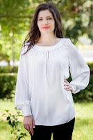 Camasa alba din chiffon Gaby (Ama Fashion)