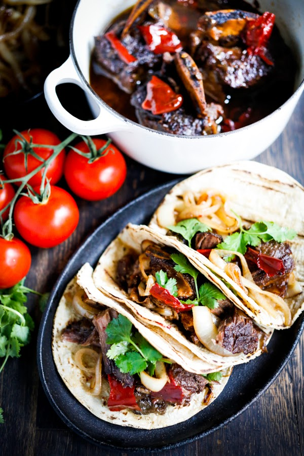 Mexican Braised Beef Tacos Recipe — Dishmaps