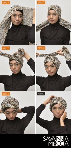 Cara Memakai Jilbab Gaya Turban | Cara Memakai Jilbab Tutorial Hijab