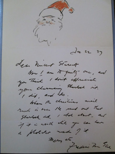 Steele Christmas Letter to Starrett