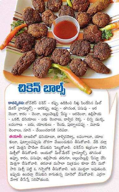 Healthy food recipes chicken balls recipe in telugu chicken balls recipe in telugu forumfinder Choice Image