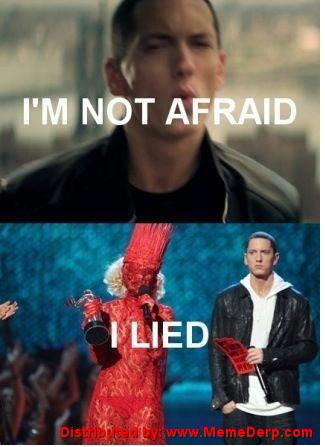 Eminem is Afraid of Lady Gaga meme