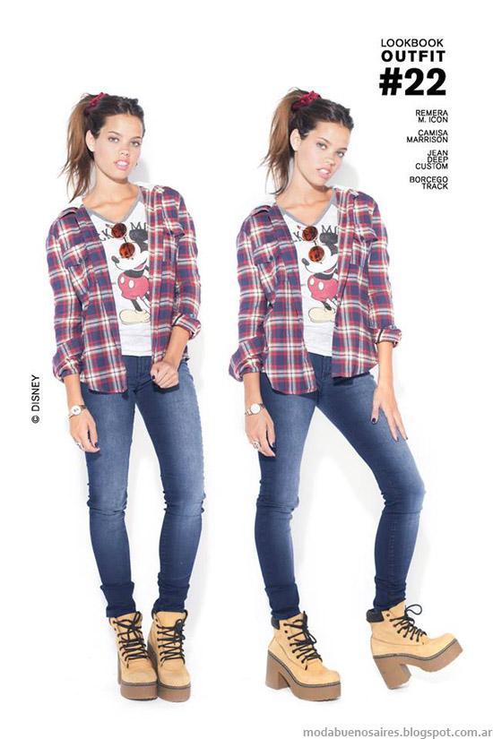 Camisas a cuadros otoño invierno 2014 47 Street.