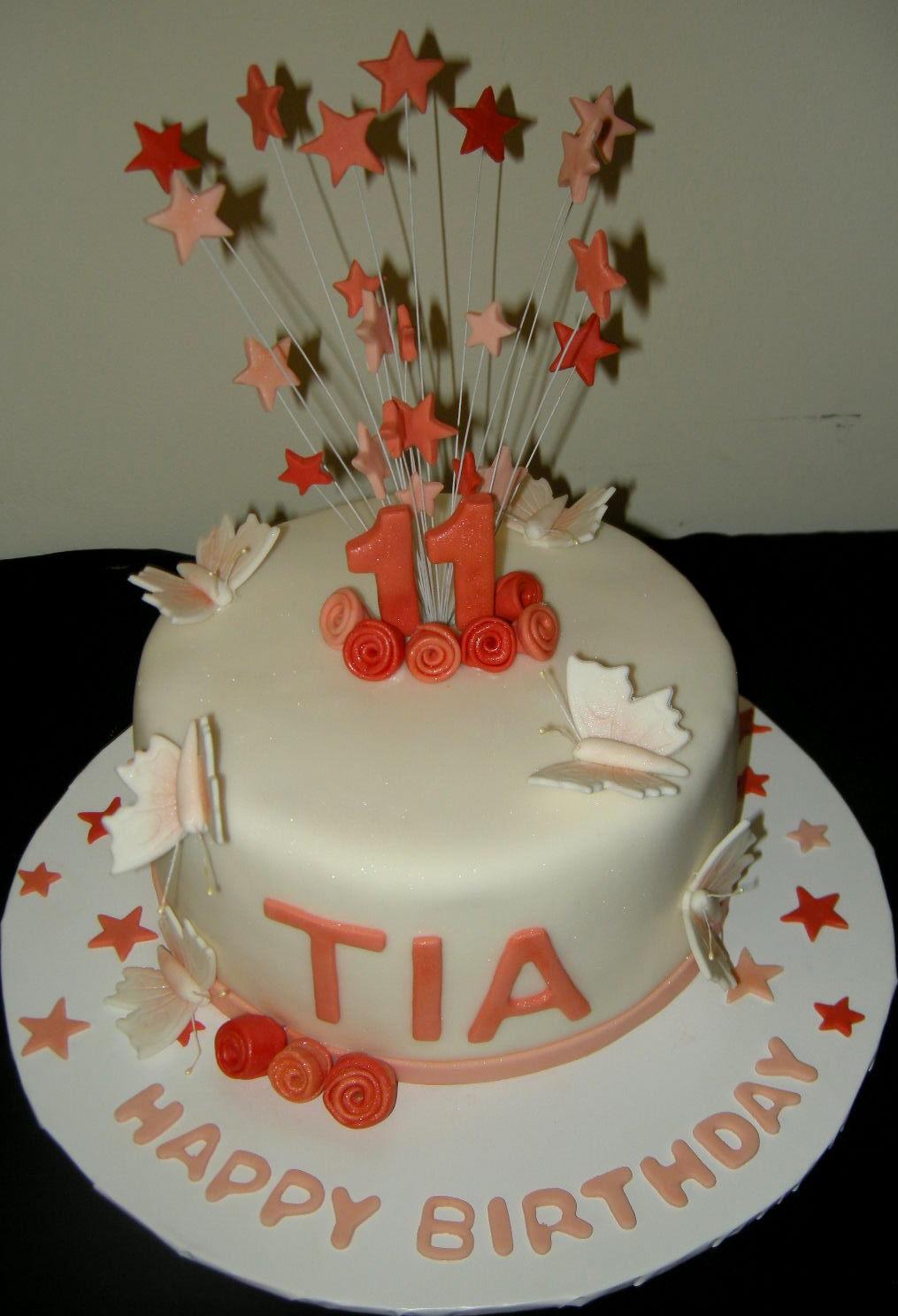 Harshis Cakes Bakes Tias 11th Birthday Cake