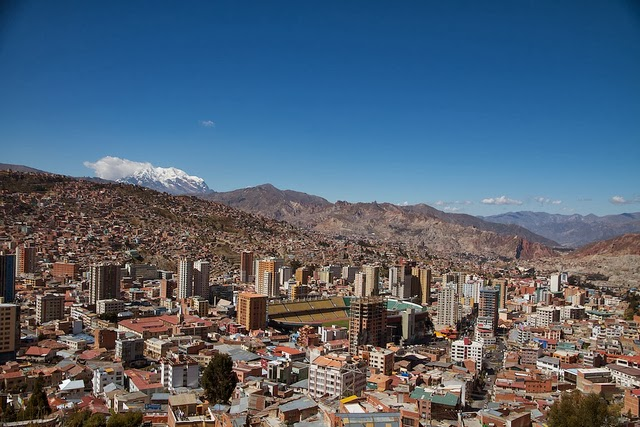 the metropolitan city le paz the capital of Bolivia