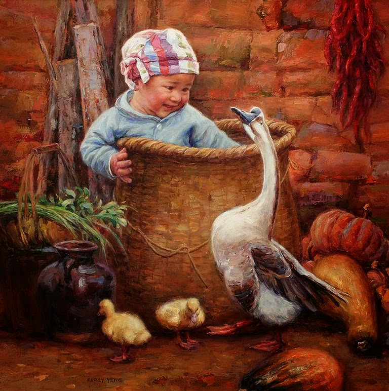 pinturas-de-bebes-al-oleo