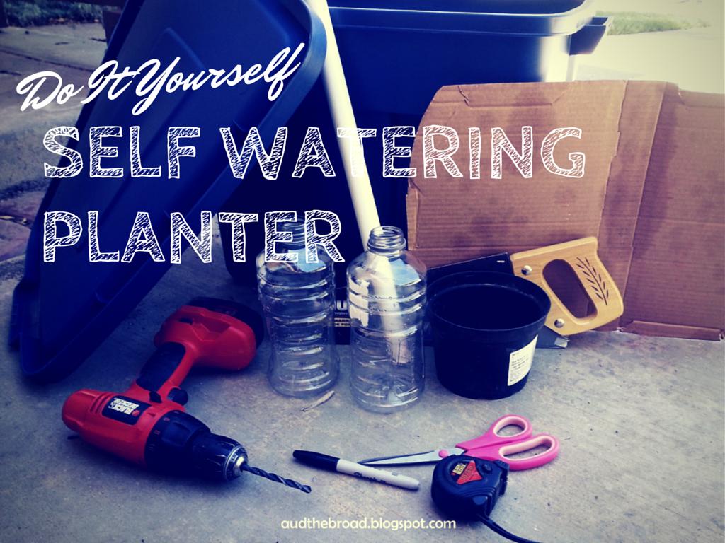 DIY Self Watering Planter with 18 gallon tub