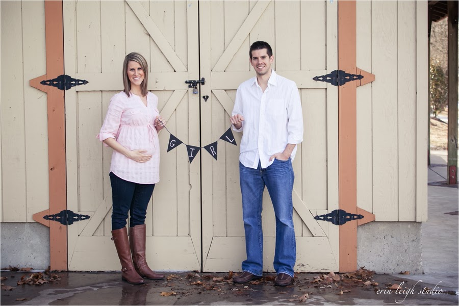 Gender Reveal Photos with a chalkboard