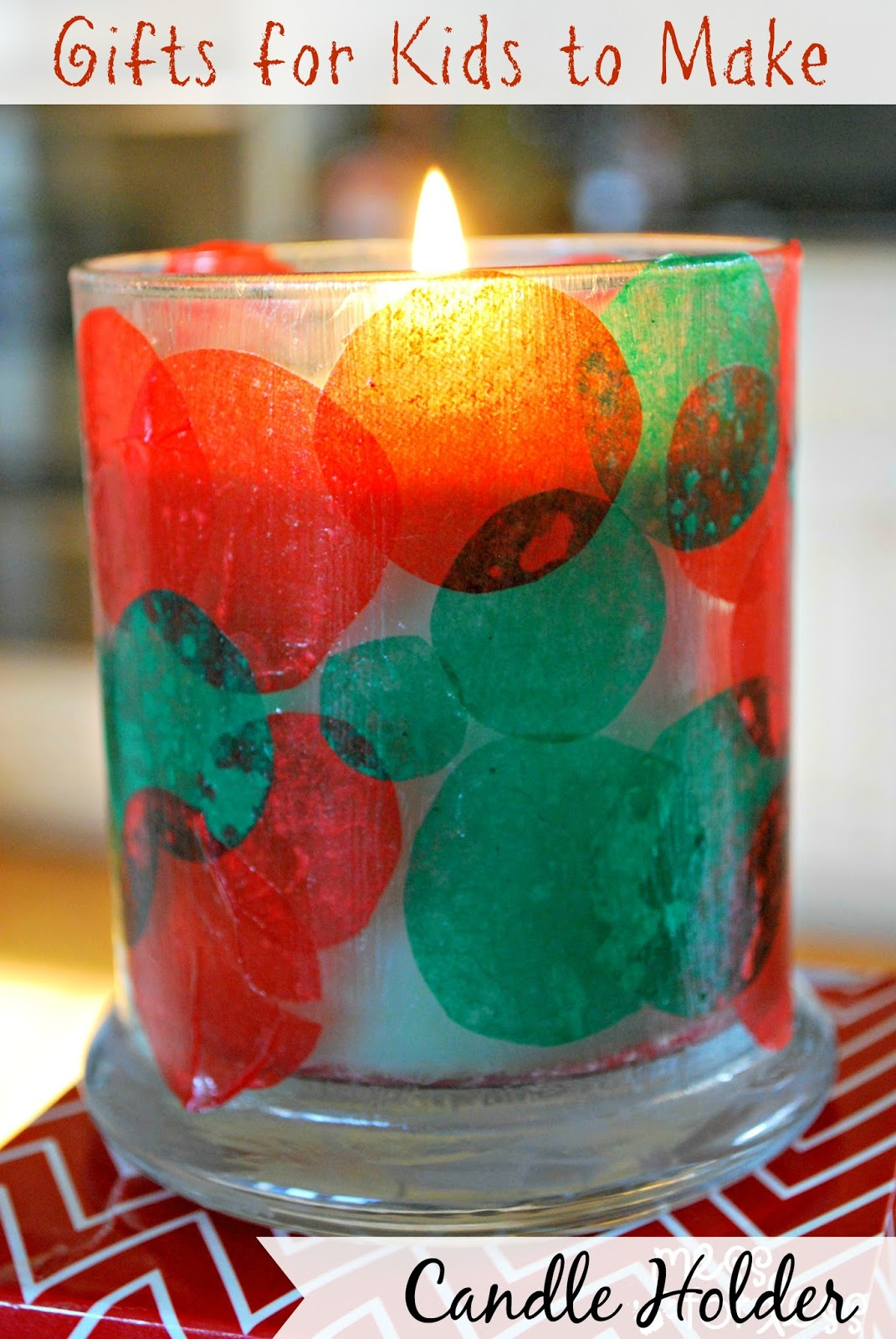 Gifts for kids to make candle holder this kids christmas craft is