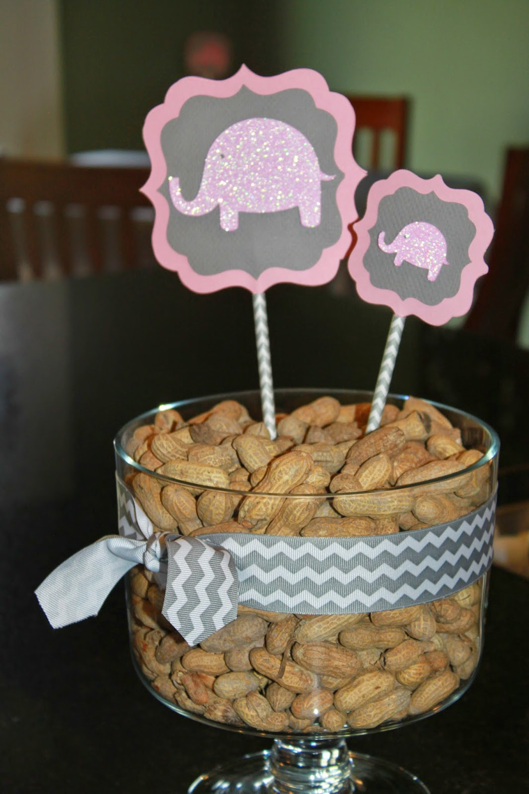 My paper productions pink glitter elephants baby shower