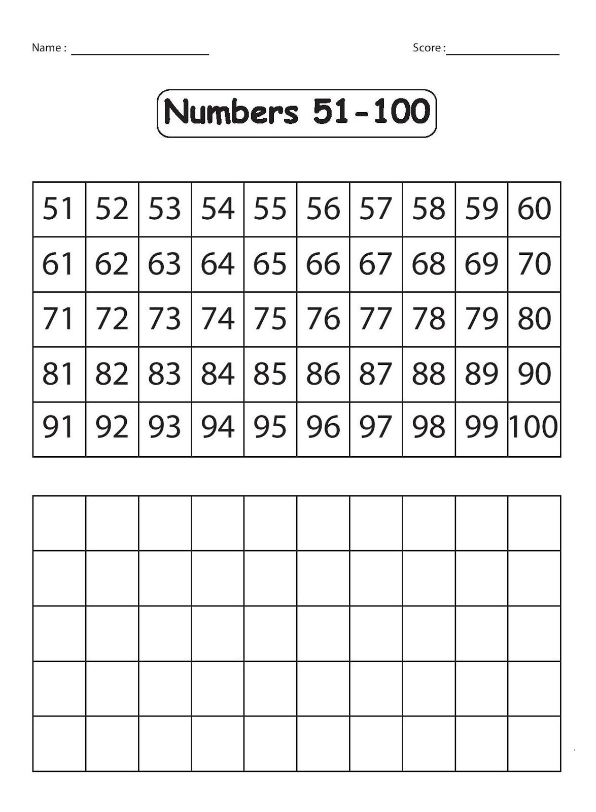write numbers