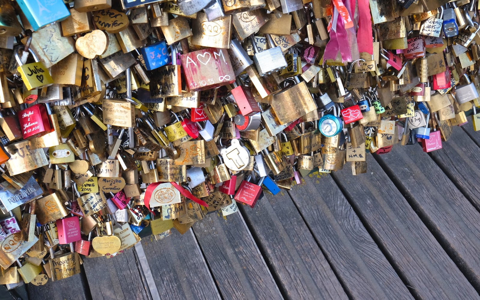 Padlocks pont des arts Paris