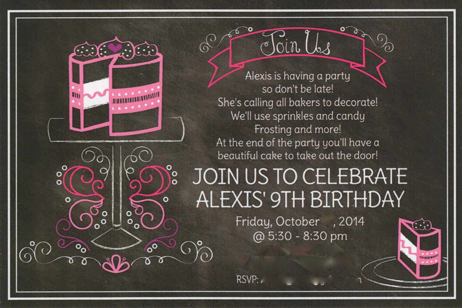 Cake Decorating Birthday Party Invitations : It s Fun 4 Me!: Cake Decorating 9th Birthday Party