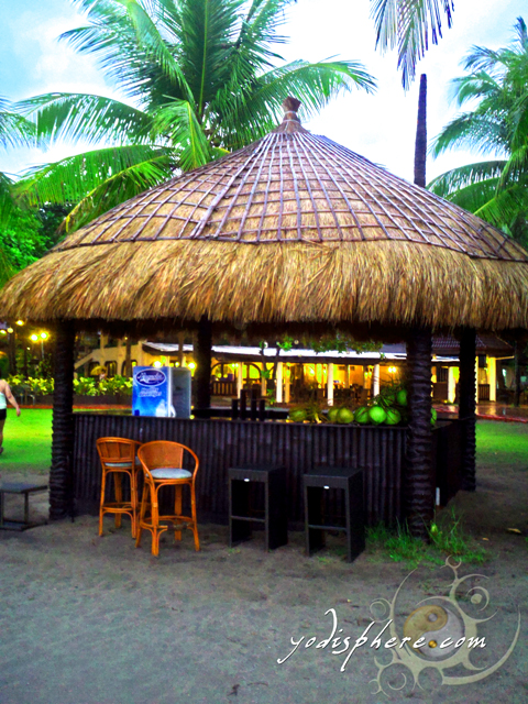 Mini bar serving cold drinks and fresh buko juice at beach area.